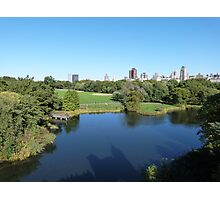 NYC View in Central Park Photographic Print
