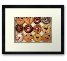 Freaking Donuts Framed Print