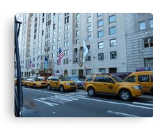 NYC Taxis Canvas Print