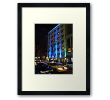 NYC, Manhattan, Taxi Framed Print