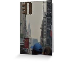 NYC Chrysler Building Sneak Peek Greeting Card