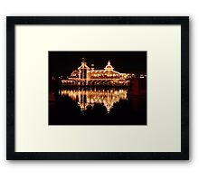 Reflection on Water at Night Framed Print
