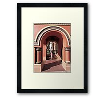 Waiting in the Archway Art Framed Print