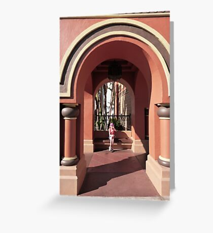 Waiting in the Archway Art Greeting Card
