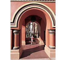 Waiting in the Archway Art Photographic Print