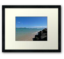 Calm Surf Framed Print