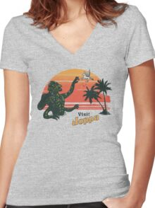 Coast Of The Titans Women's Fitted V-Neck T-Shirt