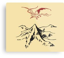 [The Hobbit] - Lonely Mountain (Light) Metal Print