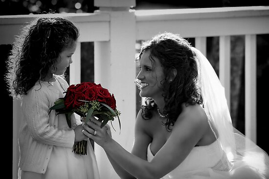 *Bride and Flower Girl Daughter* by Darlene Lankford Honeycutt