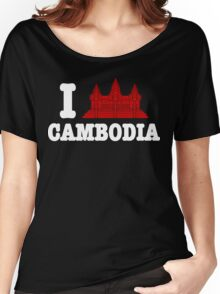 I Angkor (Love) Cambodia Women's Relaxed Fit T-Shirt