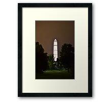 Glowing Obelisk Framed Print