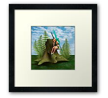 Thoughtful Fairy Framed Print