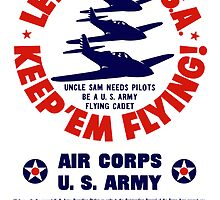 Let's Go U.S.A. Keep 'Em Flying -- WWII by warishellstore