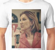 Carly Fiorina Microphone Prezography Portrait Unisex T-Shirt