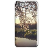 A canal with a cherry tree  iPhone Case/Skin
