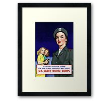US Cadet Nurse Corps Framed Print