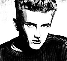 Jimmy Dean: Black & White by AdagioArt