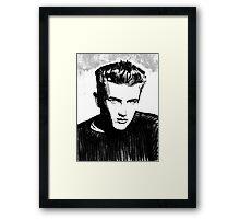 Jimmy Dean: Black & White Framed Print
