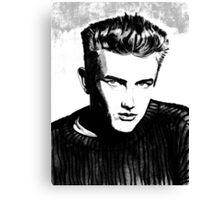 Jimmy Dean: Black & White Canvas Print