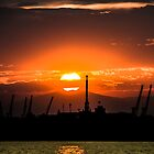 sunset over thessaloniki by 126pixels