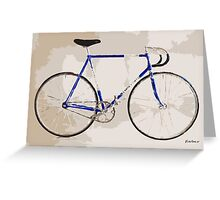 The Gios Track Bike Greeting Card