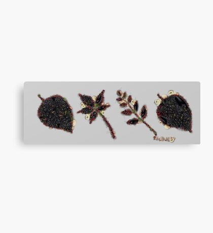 Fruit & Vegetables Leaves Canvas Print