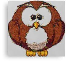Fruit & Vegetable Owl Canvas Print