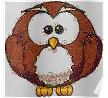 Fruit & Vegetable Owl Poster