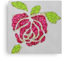 Fruit & Vegetable Rose Canvas Print