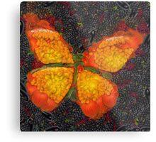 Fruit & Vegetable Butterfly Metal Print