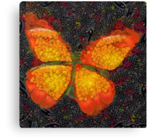 Fruit & Vegetable Butterfly Canvas Print