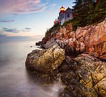 High Tide Lighthouse by MIRCEA COSTINA