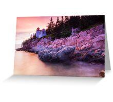 Bass Harbor Lighthouse Sunset Greeting Card