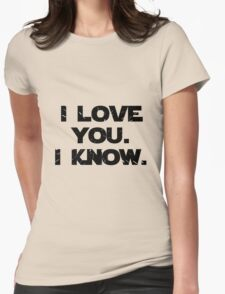 I Love You. I Know.  Womens Fitted T-Shirt