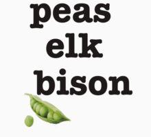 peas elk bison by Wokswagen