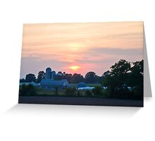Berks County Sunset Greeting Card