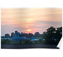 Berks County Sunset Poster
