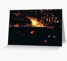 small cities big flats / ground four Greeting Card