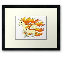 Rapidash & Ponyta Framed Print