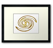 Golden Letter S iPhone / Samsung Galaxy Case Framed Print