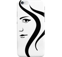 Girl Face and Hair iPhone Case/Skin