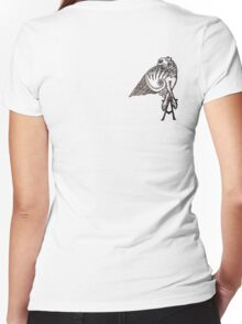 Angel's Tattoo Women's Fitted V-Neck T-Shirt