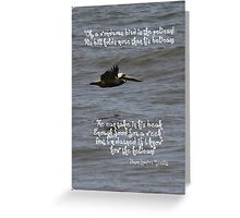 The Wondrous Pelican Greeting Card
