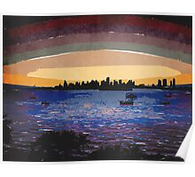 Sunset Over Miami Poster