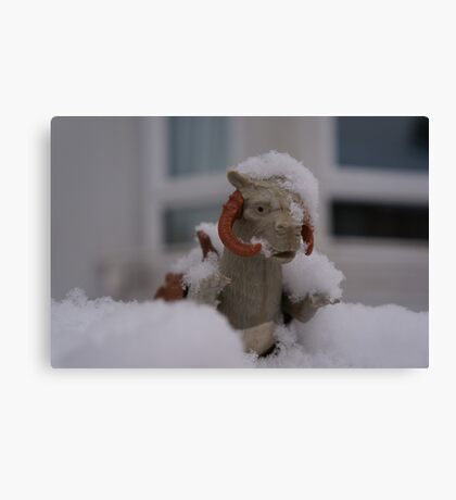 Tauntaun in snow Canvas Print
