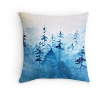 Blue Woods Throw Pillow