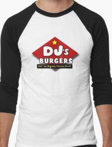 DJ's Burgers (ugly sobbing) Men's Baseball ¾ T-Shirt