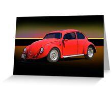 1966 Volkwagon 'Beatle Bug' Greeting Card