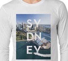 Sydney - Text Overlay Long Sleeve T-Shirt