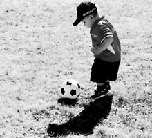 A  Boy And  Soccer Ball by Evita